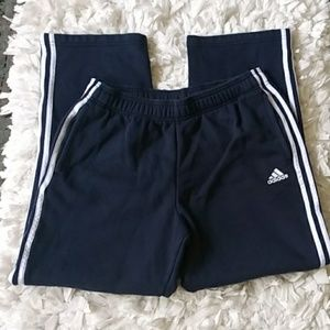 Adidas white/navy blue sweatpants